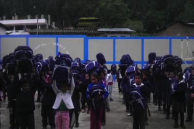 Entrega de las Mochilas y Paquetes Escolares