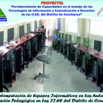 Implementación de Equipos Informáticos en las Aulas de Innovación Pedagógicas.